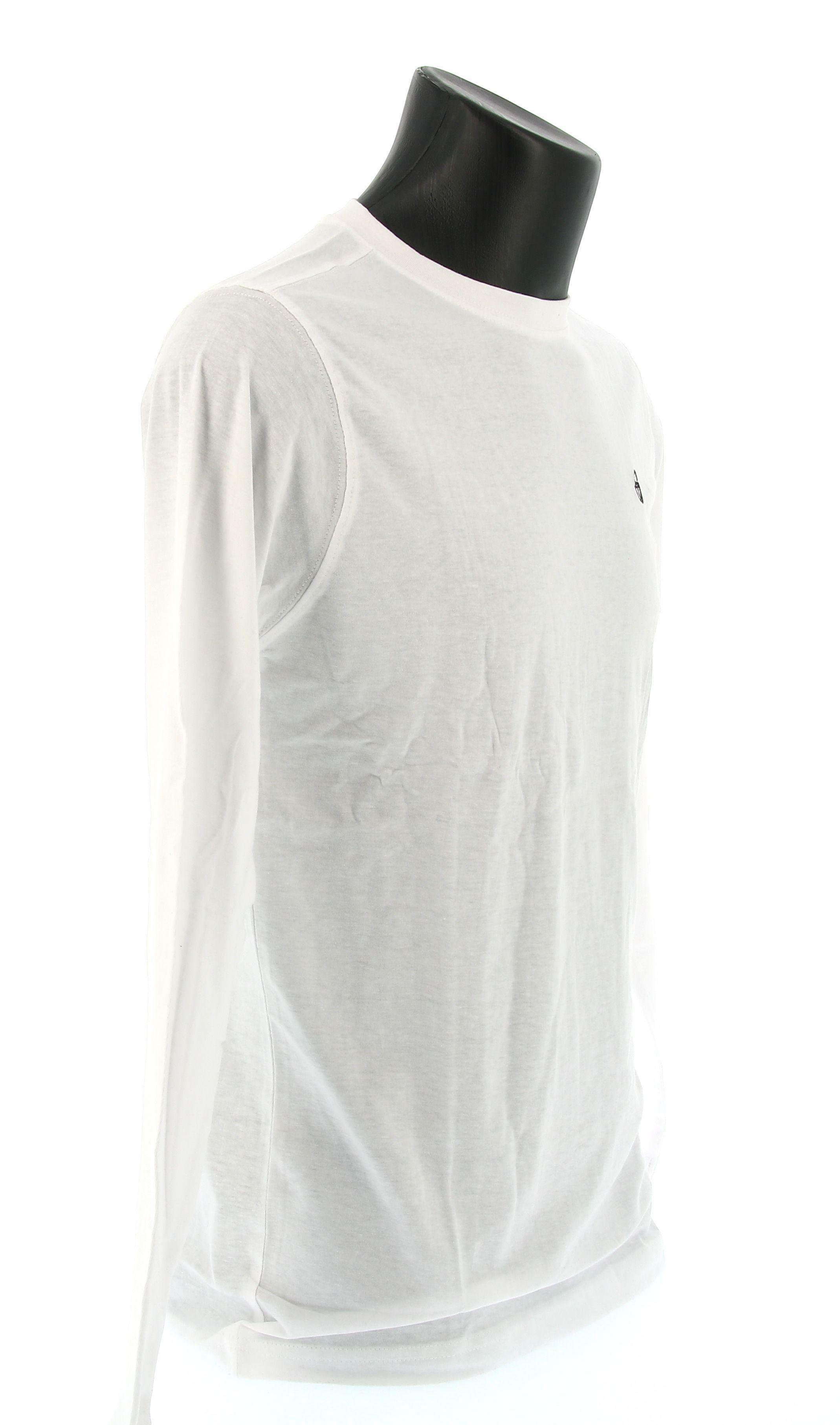 sergio tacchini sergio tacchini sl t-shirt iconic 10006 manica lunga uomo bianca