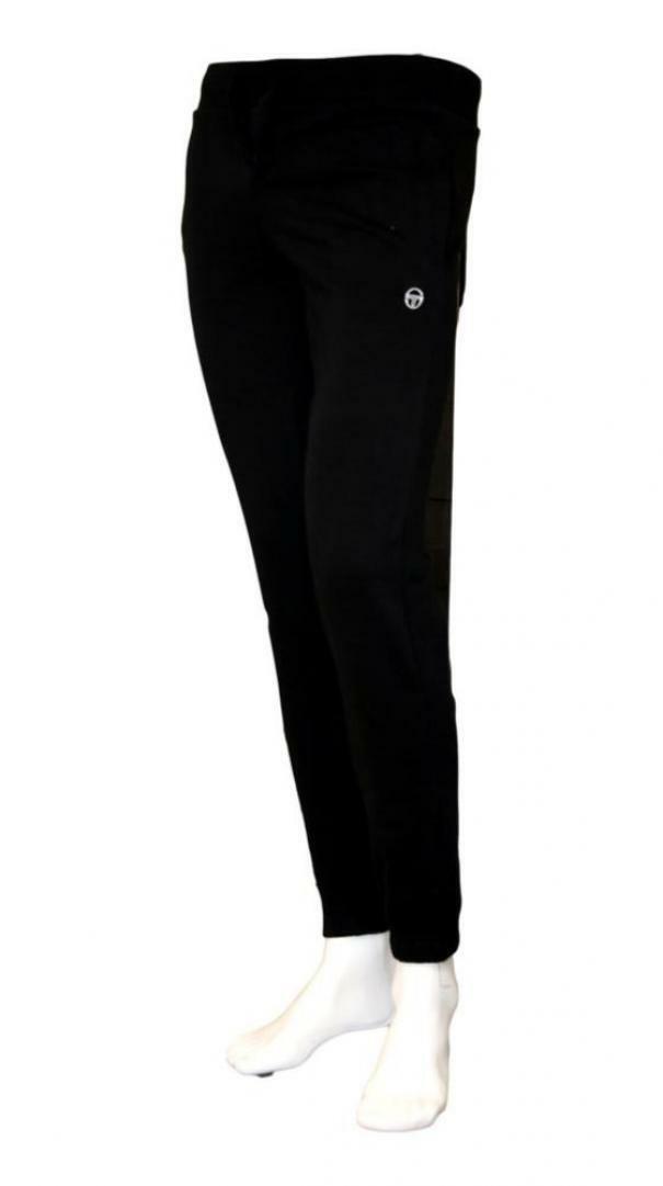 sergio tacchini sergio tacchini elastic pant iconic 10010  sportivo uomo nero