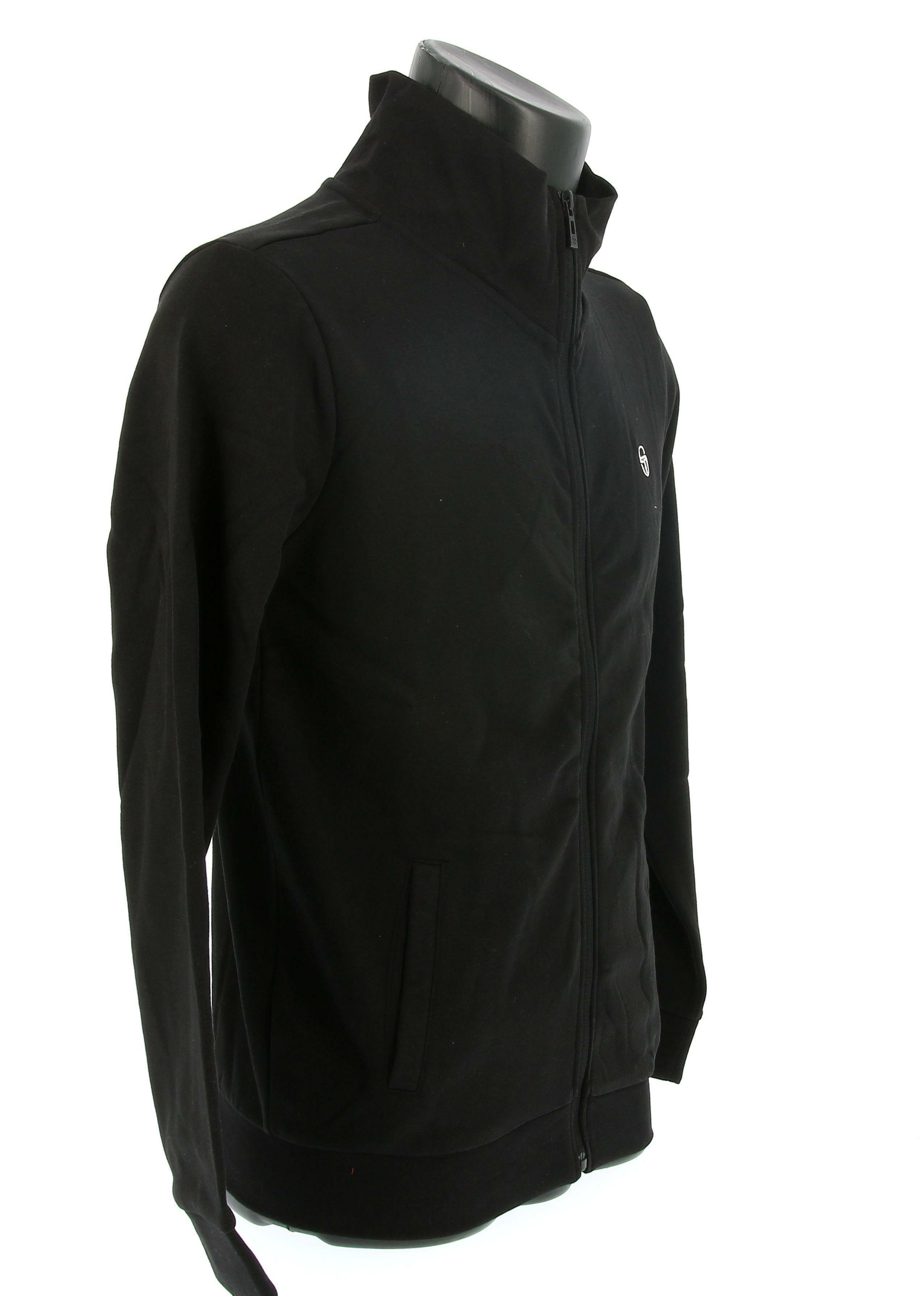 sergio tacchini felpa sergio tacchini 10012 sweater full zip jacket uomo nero