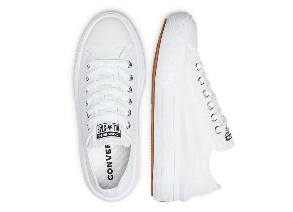 converse converse chuck taylor all star move platform ox 570257c sneaker bassa - da donna - bianco