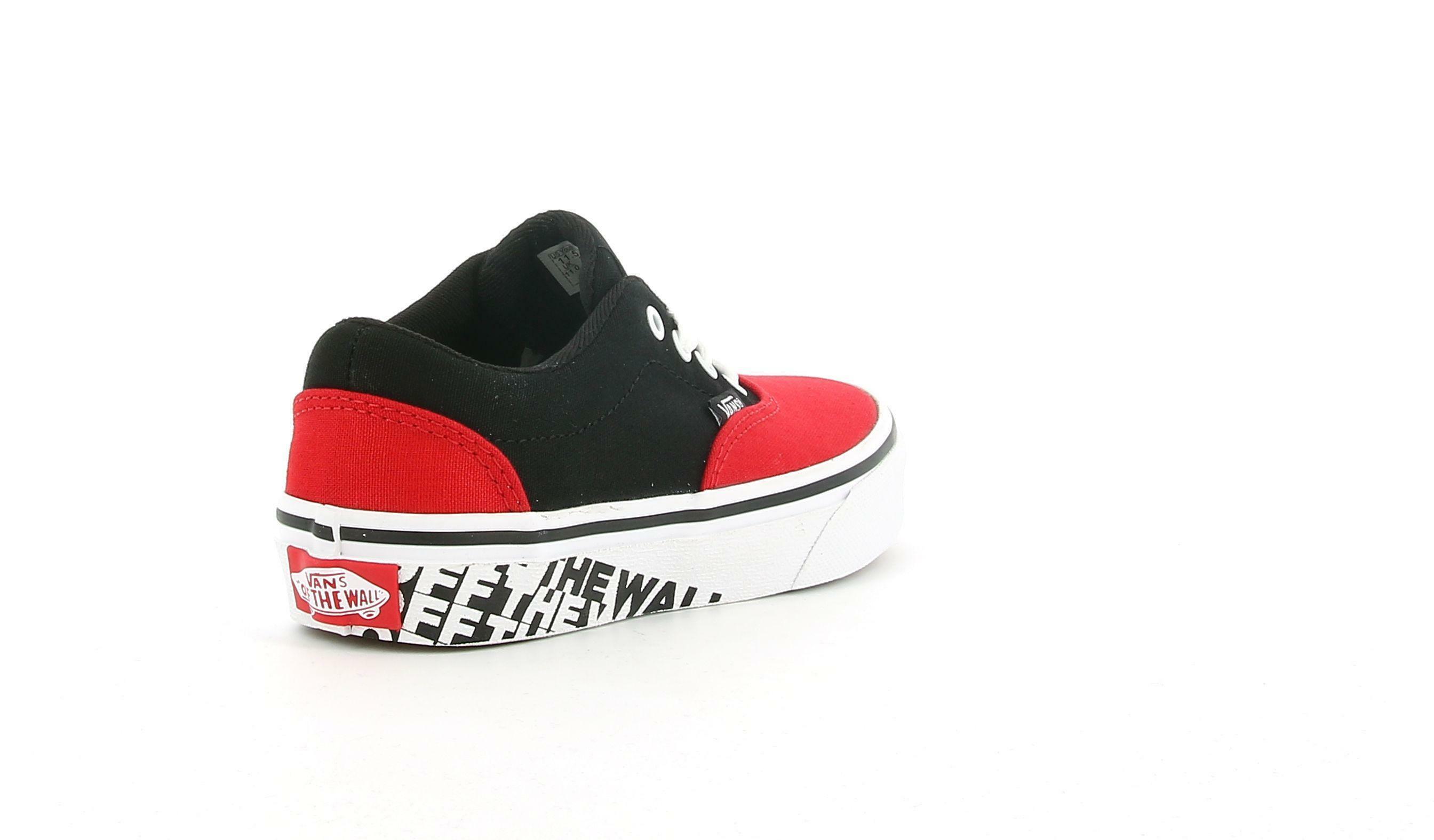 vans vans yt doheny  otw sidewall  vn0a3mwa3s11 sneaker bassa unisex junior rossa e nera
