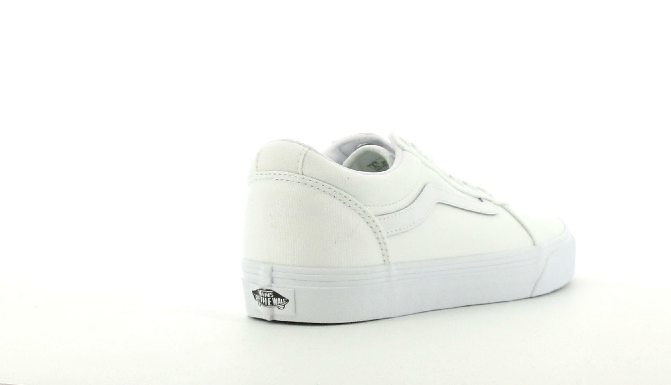 vans vans ward canvas vn0a38dm7hn1 sneaker uomo bianca