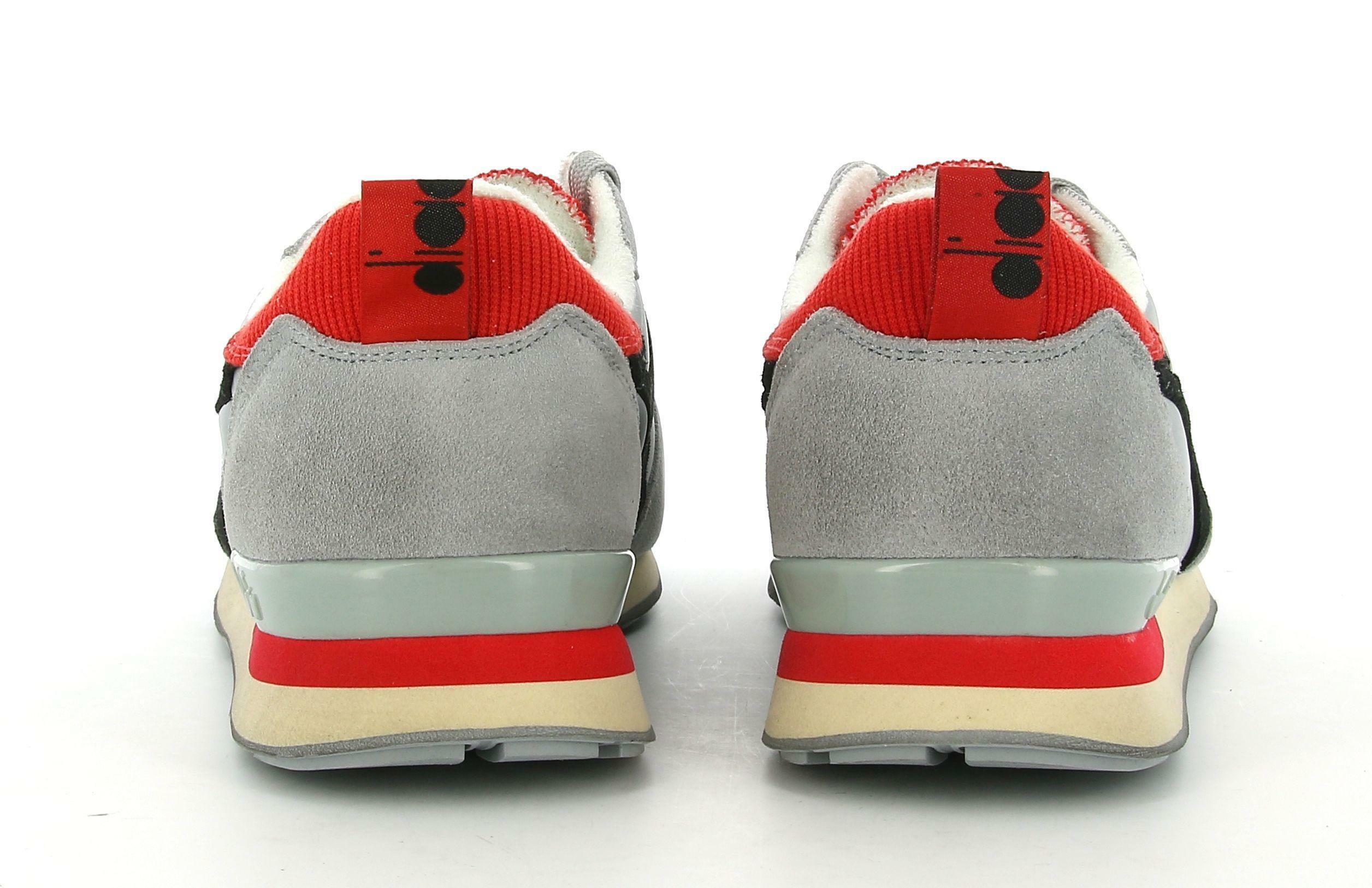 diadora diadora camaro icona 177357 scarpa sportiva da uomo grigia