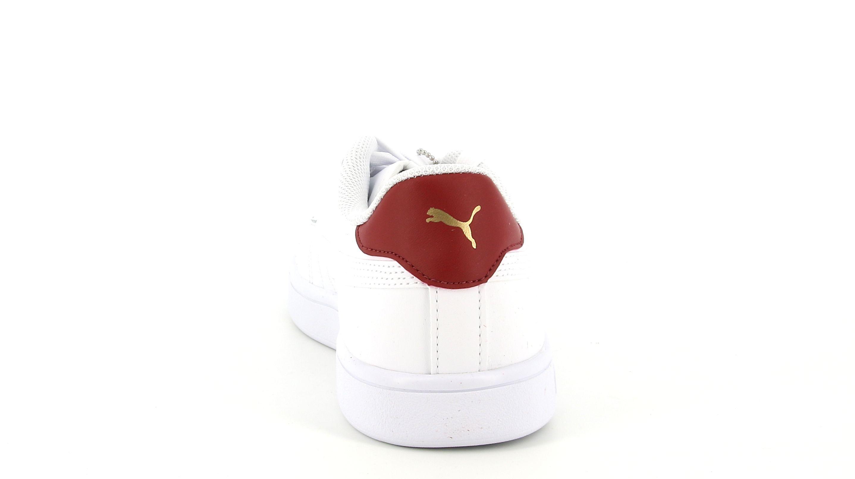 puma puma 365215 015 smash v2 l sneakers bassa da uomo bianca