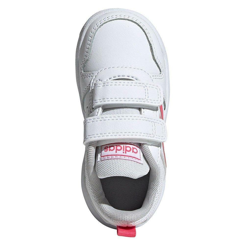 adidas tensaur i bambina strappo sportivo ef1113 bianca
