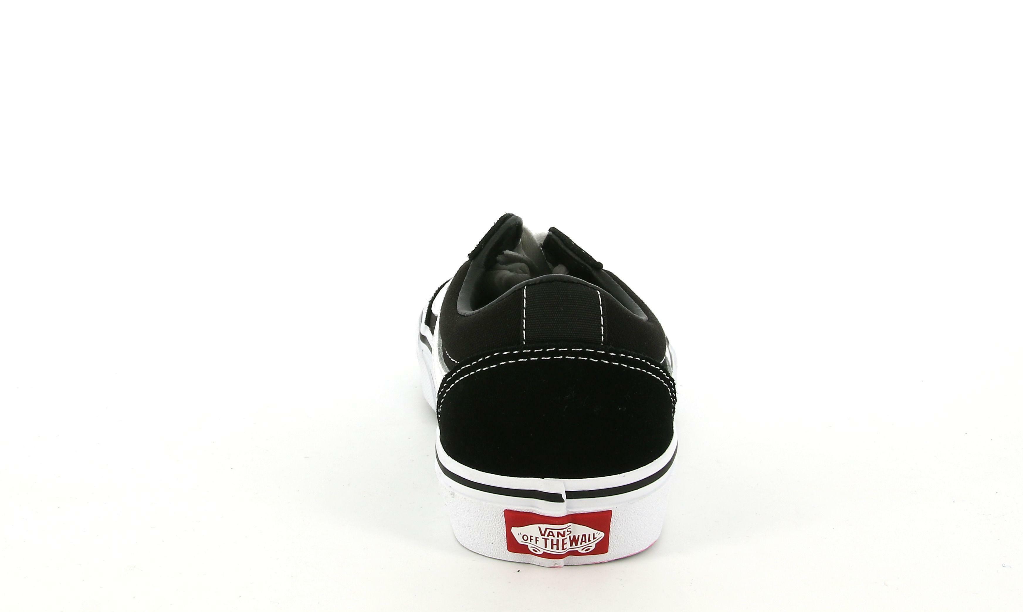 vans vans ward vn0a38j9iju1 sneakers bassa bambino black/white