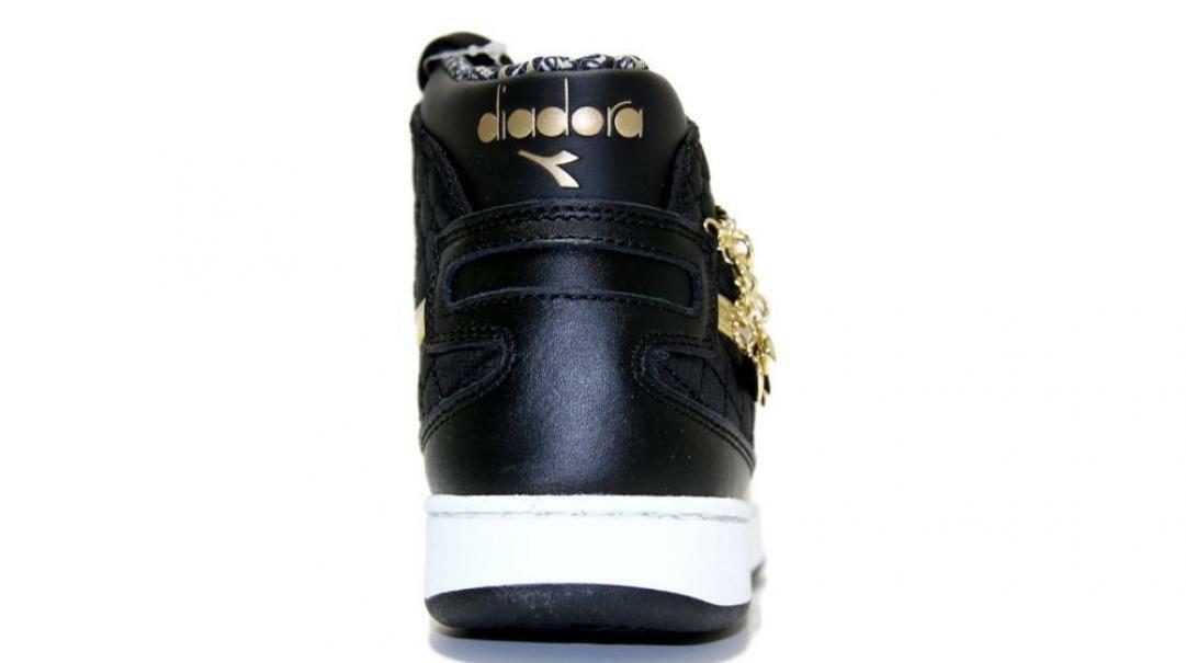 diadora diadora mi basket charme wn sneaker donna 175107 nero