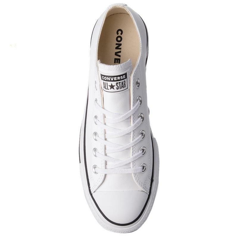 converse converse sneakers zeppa donna i-ct platform ox 561680c bianco