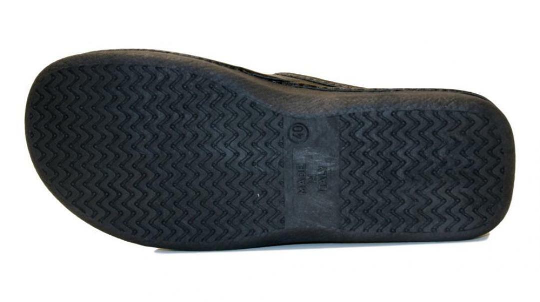 melluso melluso pantofole uomo pu150f nero