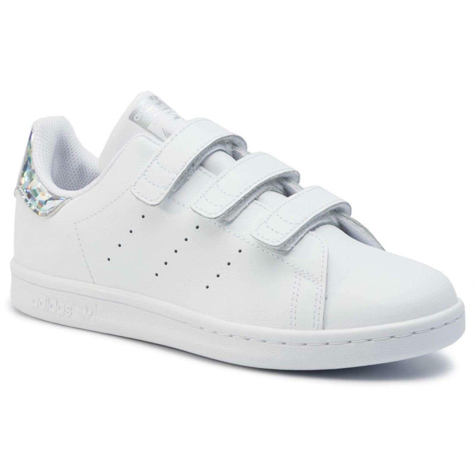 adidas adidas stan smith cf c bambina ee8484 bianco
