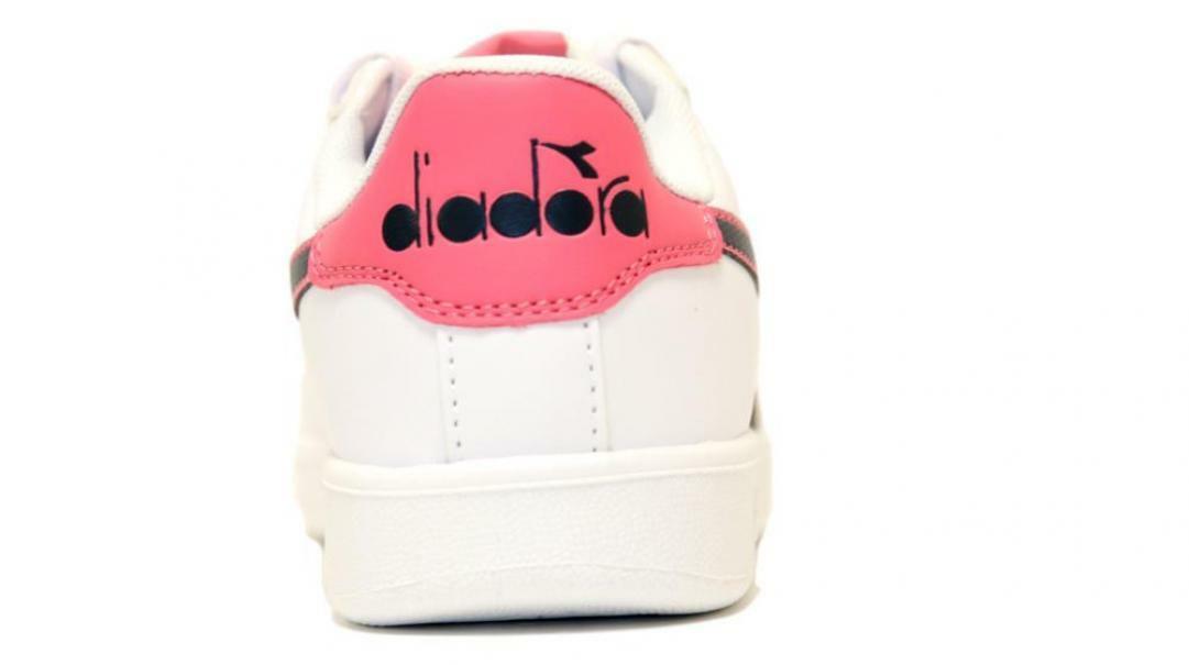 diadora diadora bambina game p gs 173323 bianco/rosa