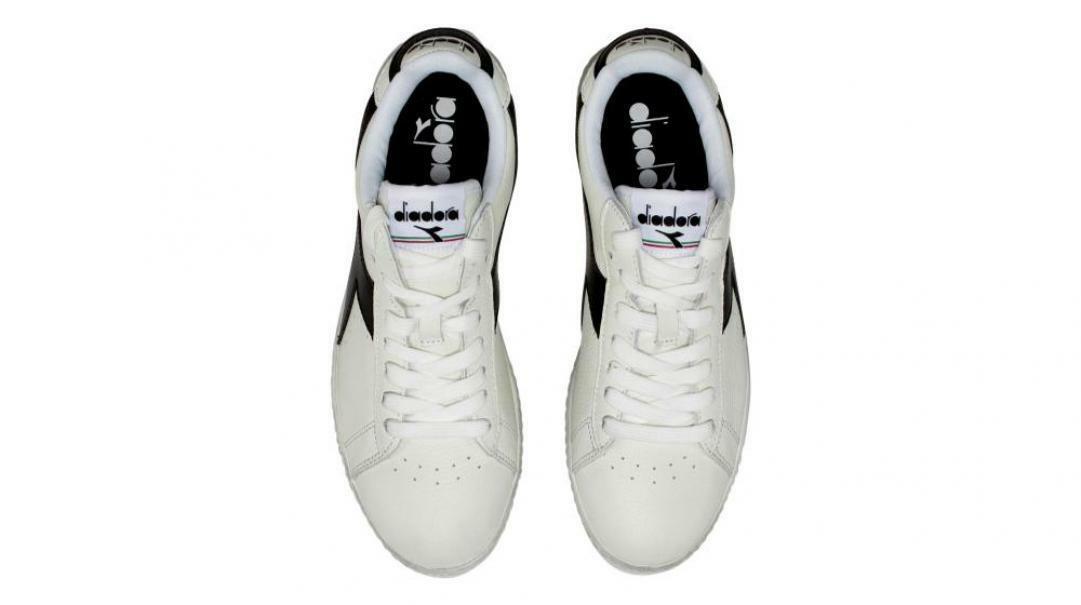 diadora diadora uomo game l low waxed 160821 bianco/nero