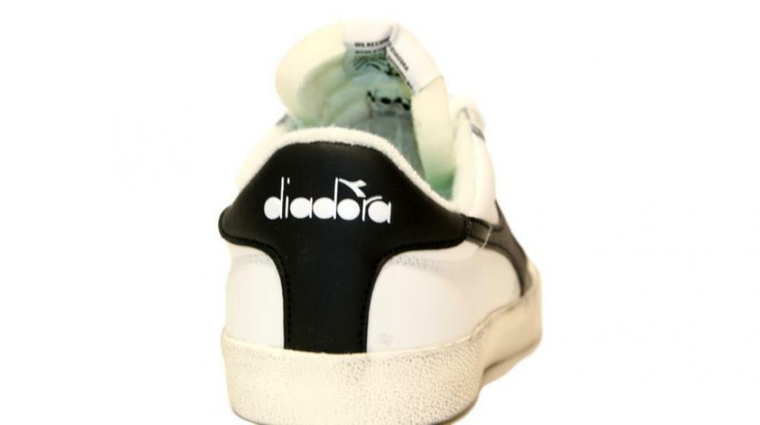 diadora diadora melody leather dirty uomo 176360 bianco/ nero