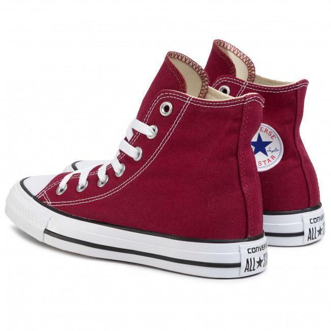 converse converse all star hi maroon unisex m9613c  bordeaux
