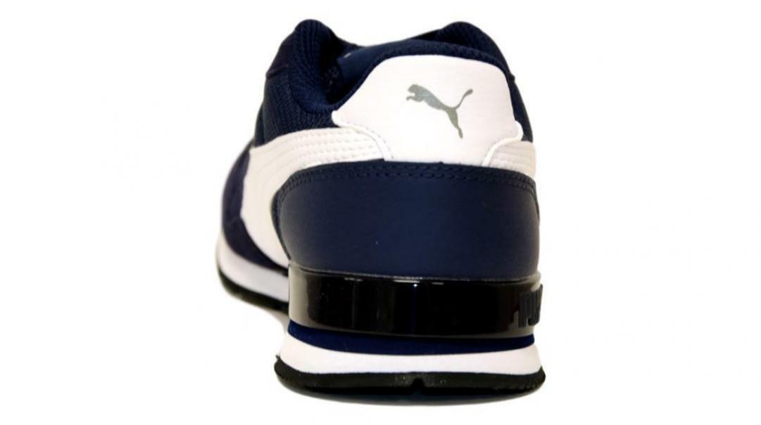 puma puma st runner v2 mesh jr bambino 367135 001  blu