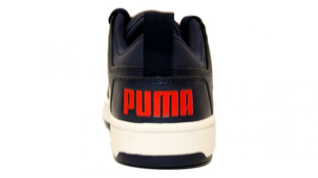 puma puma rebound layup lo garment washed jr 371474 003 blu