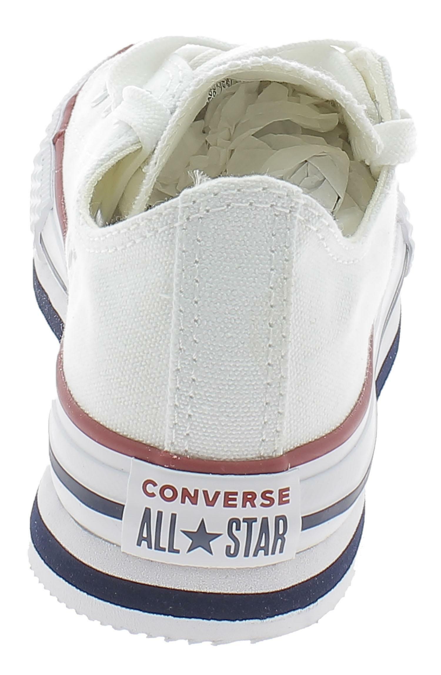 converse converse platform eva ox  white/midnight bambian 668028c bianco
