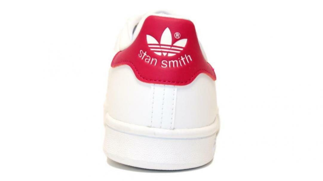 adidas adidas stan smith j bambina b32703 bianco/ viola