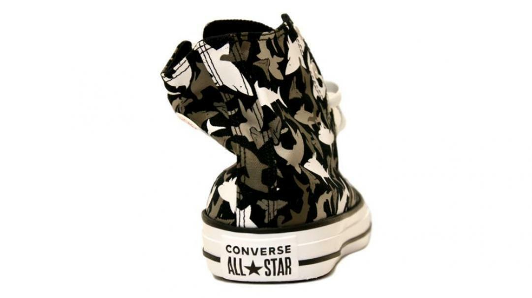 converse converse all star hi black/university red unisex 666888c  nero
