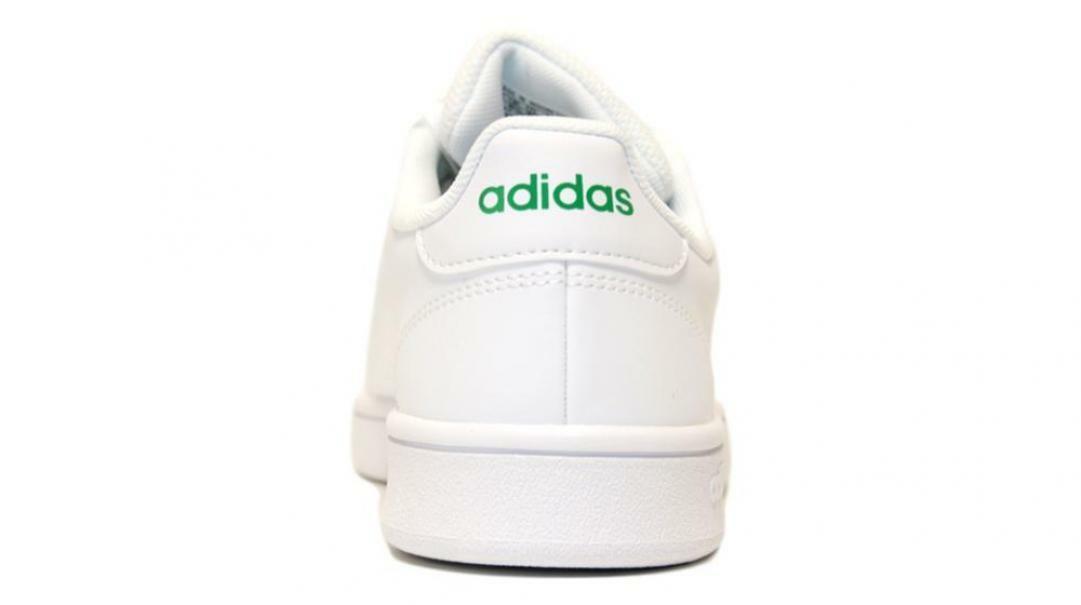 adidas adidas advantage base ftwwht/green uomo ee7690 bianco verde