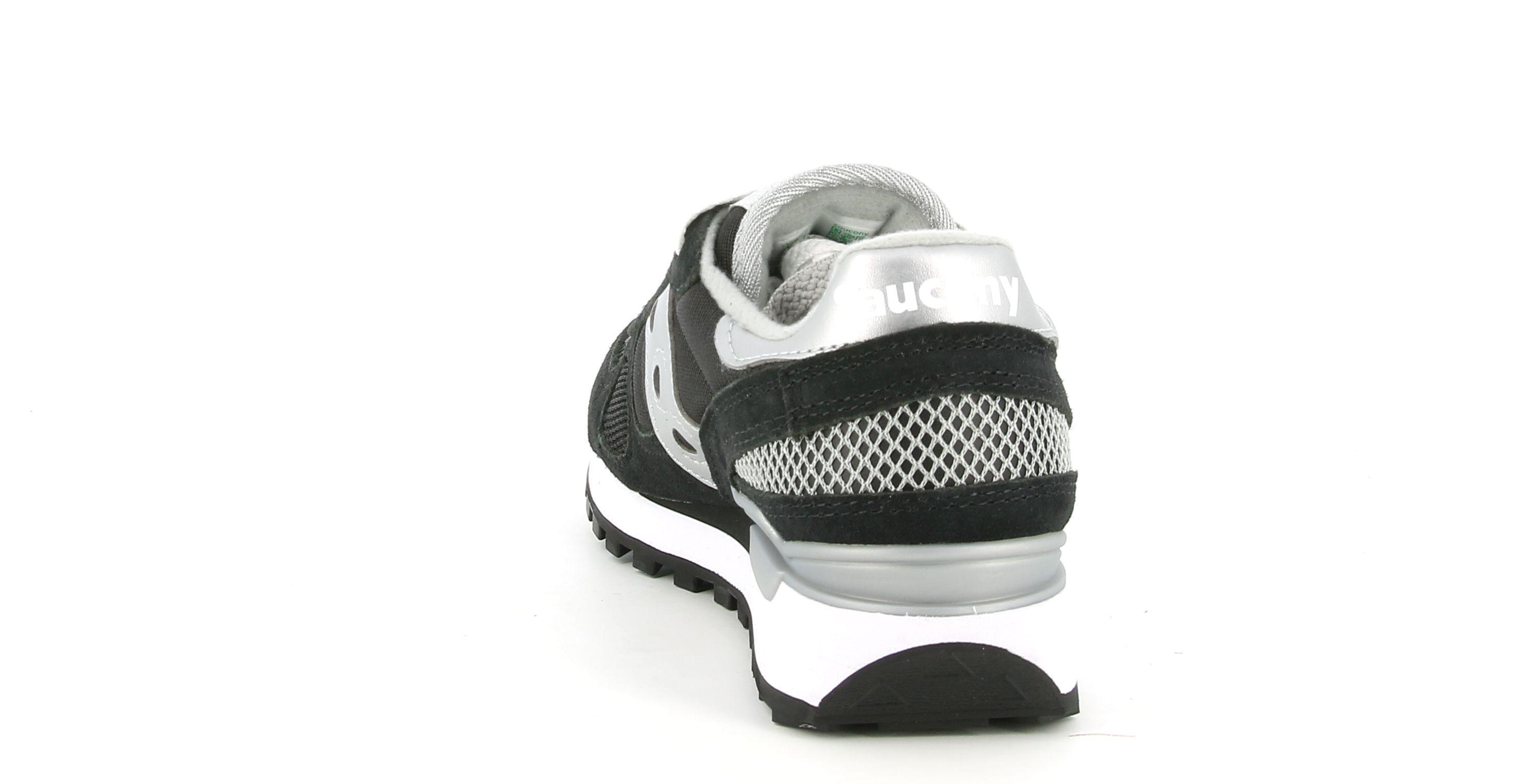 saucony saucony sneakers shadow  blk/sil/rep s1108-671 nero argento