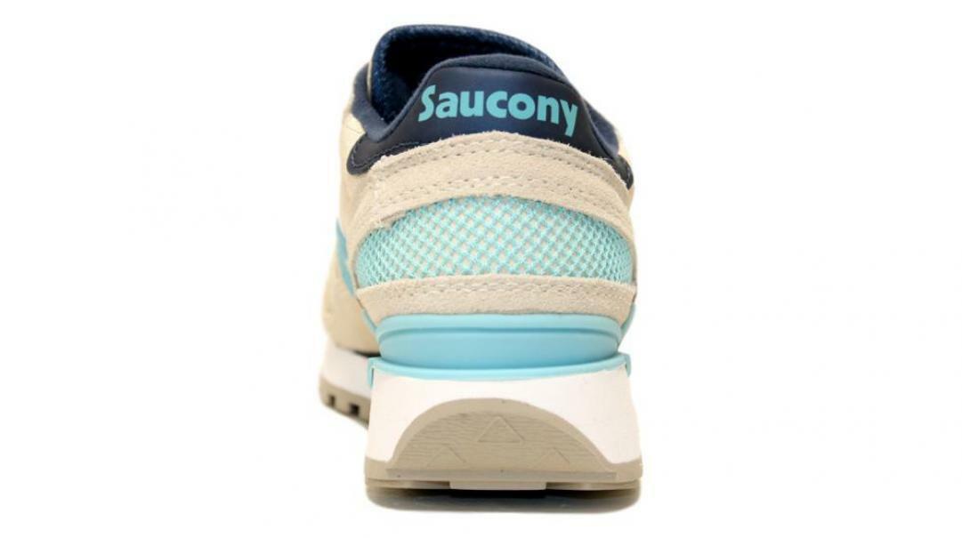 saucony saucony sneakers shadow lt gry/blu  s1108-745 beige blu