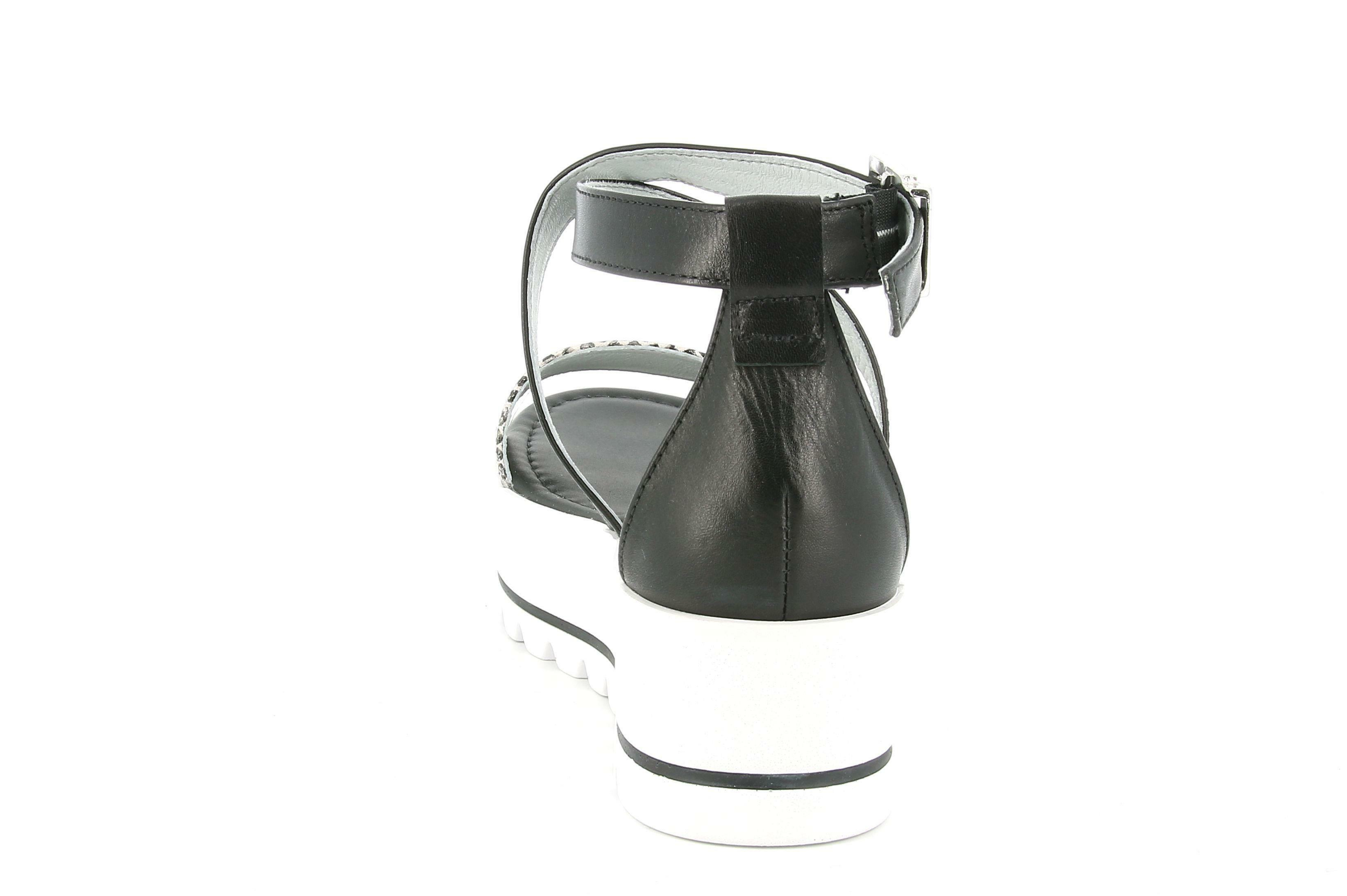 nero giardini nero giardini sandalo zeppa donna e012583d 707 bianco