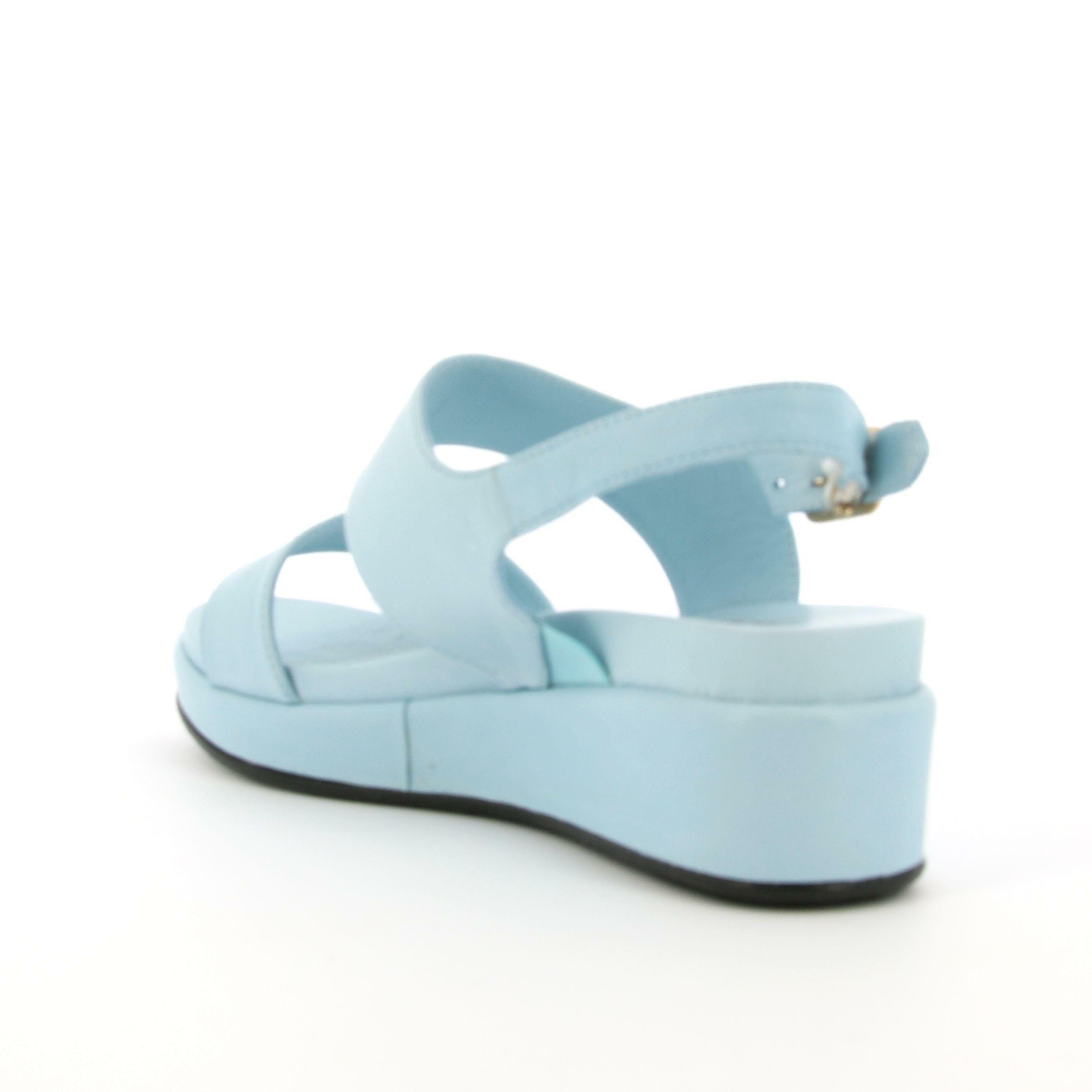 the flexx the flexx sandalo donna z643 belle1 azzurra sandalo zeppa