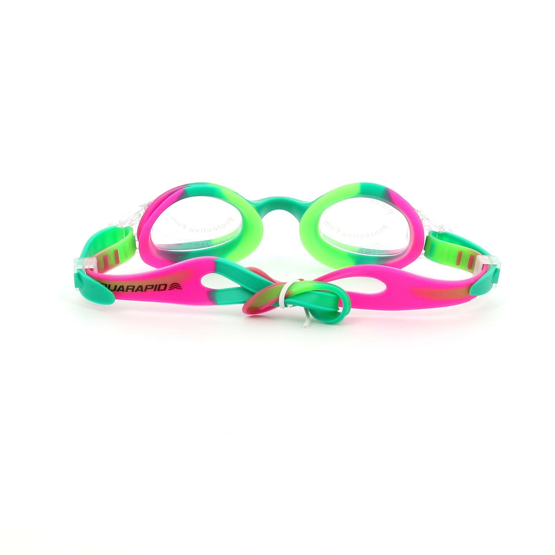 aquarapid aquarapid occhialino swimkid bambino unisex fuxia verde