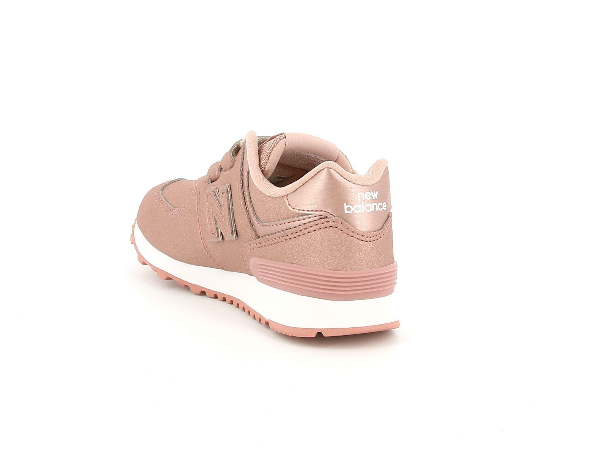 new balance new balance 574 yv574ka rosa scarpe da ginnastica bambina