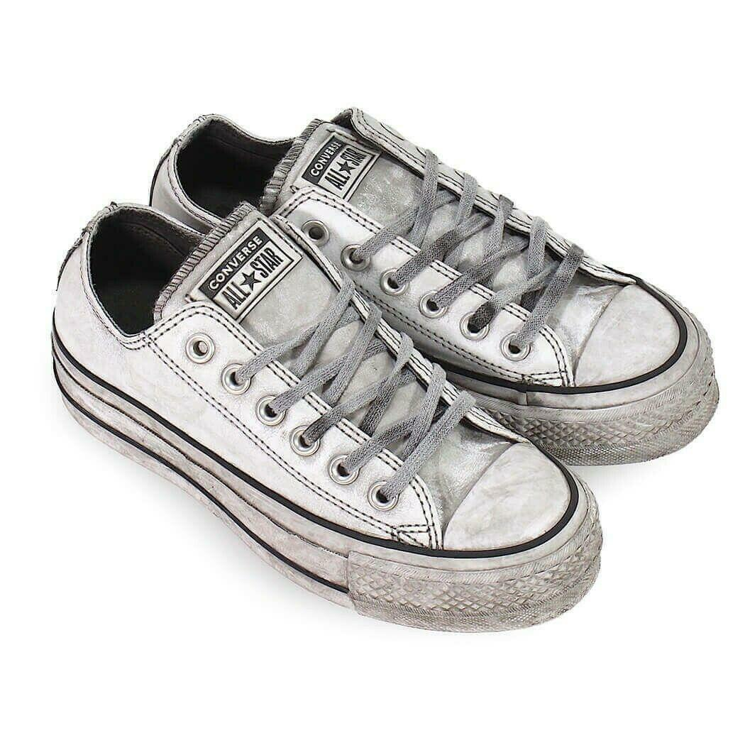 converse converse donna chuck taylor all star ox  562911c bianco limited edition