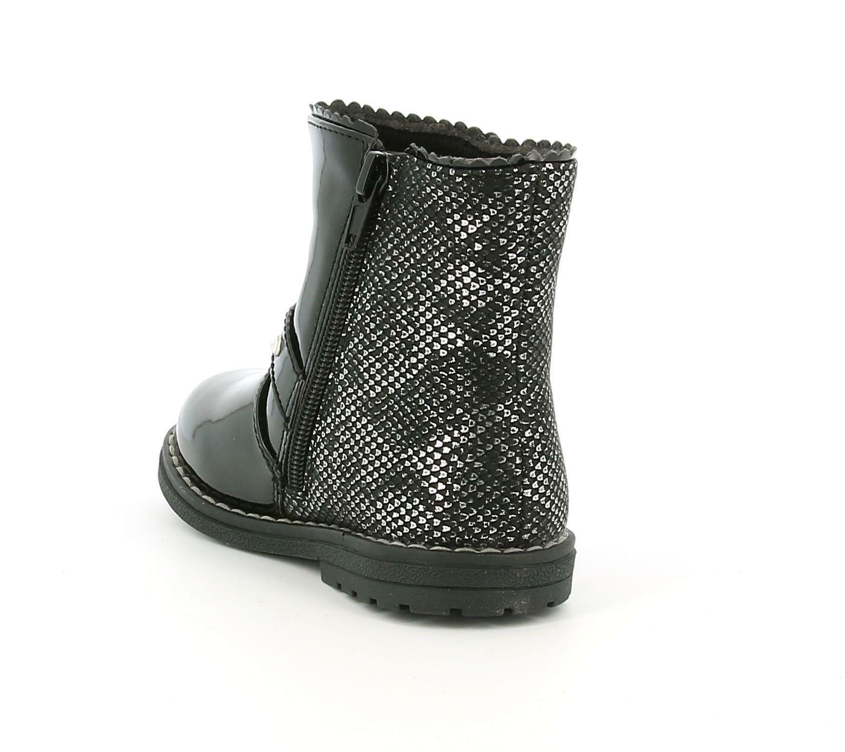 chicco chicco 64544 stivaletto ankle boot cancan da bambina nero