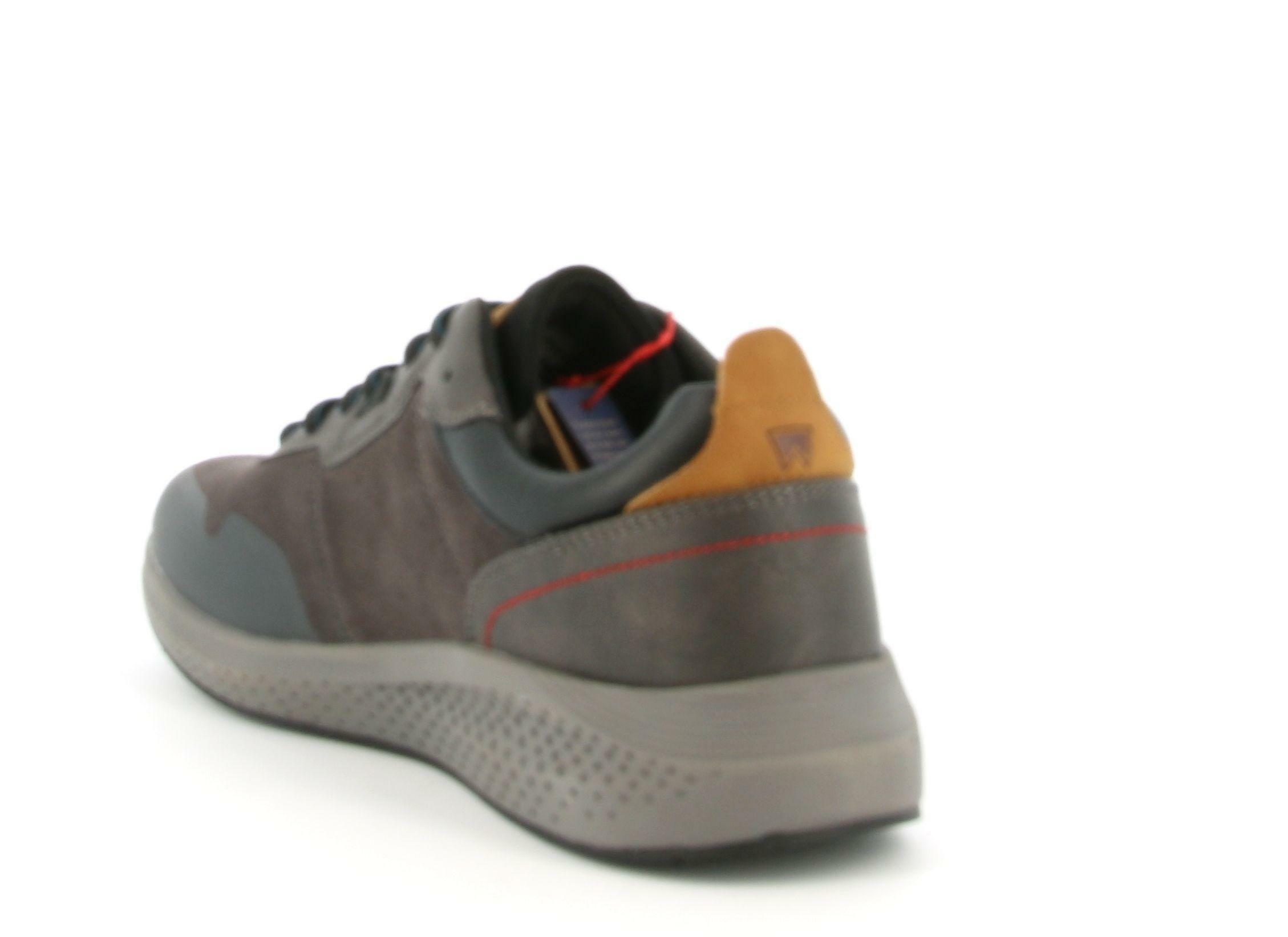 wrangler wrangler allacciato sportivo sequoia patch wm02090a grigio scarpe da uomo