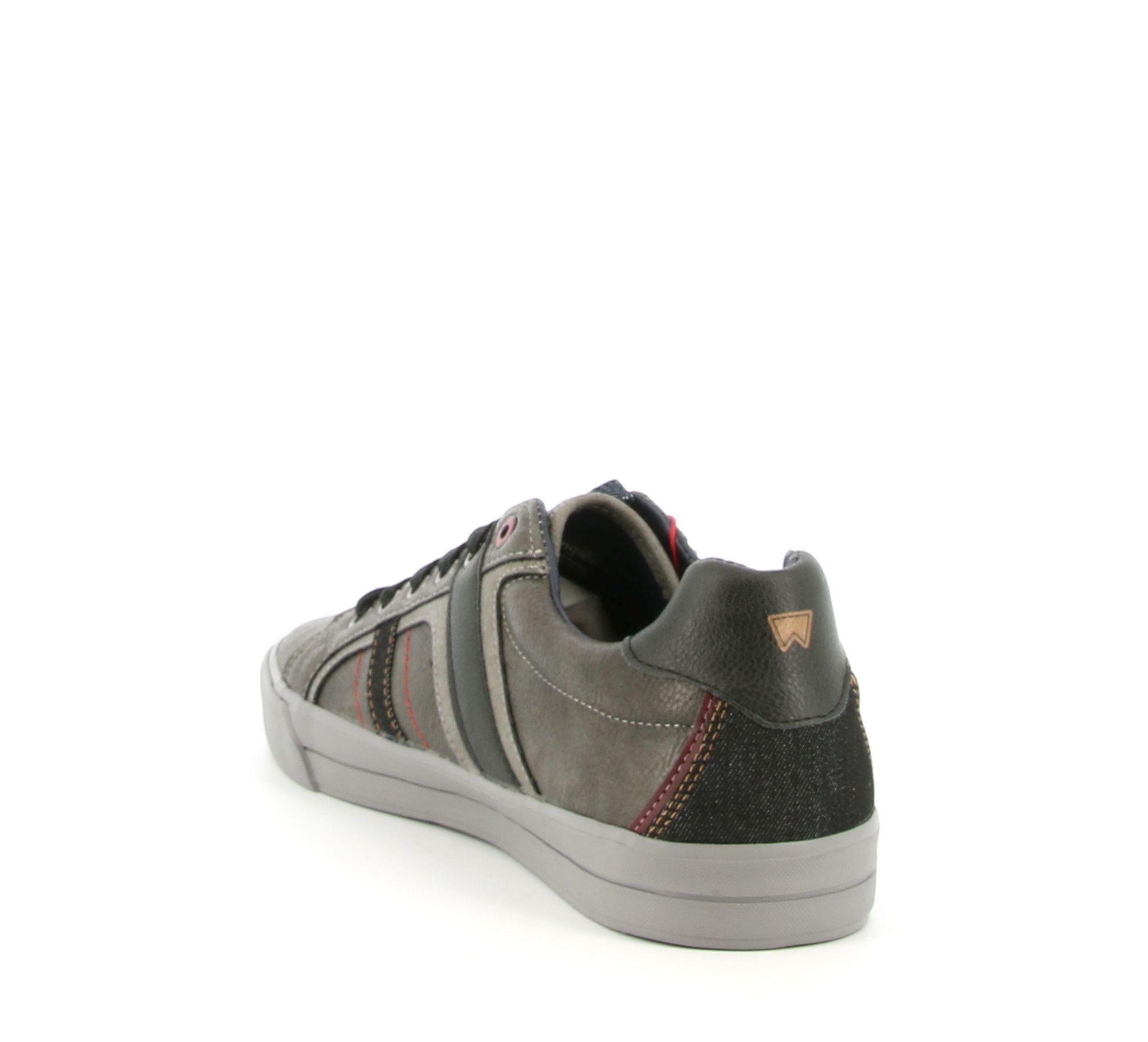 wrangler wrangler sneakers pacific derby wm02131a bassa da uomo grigio