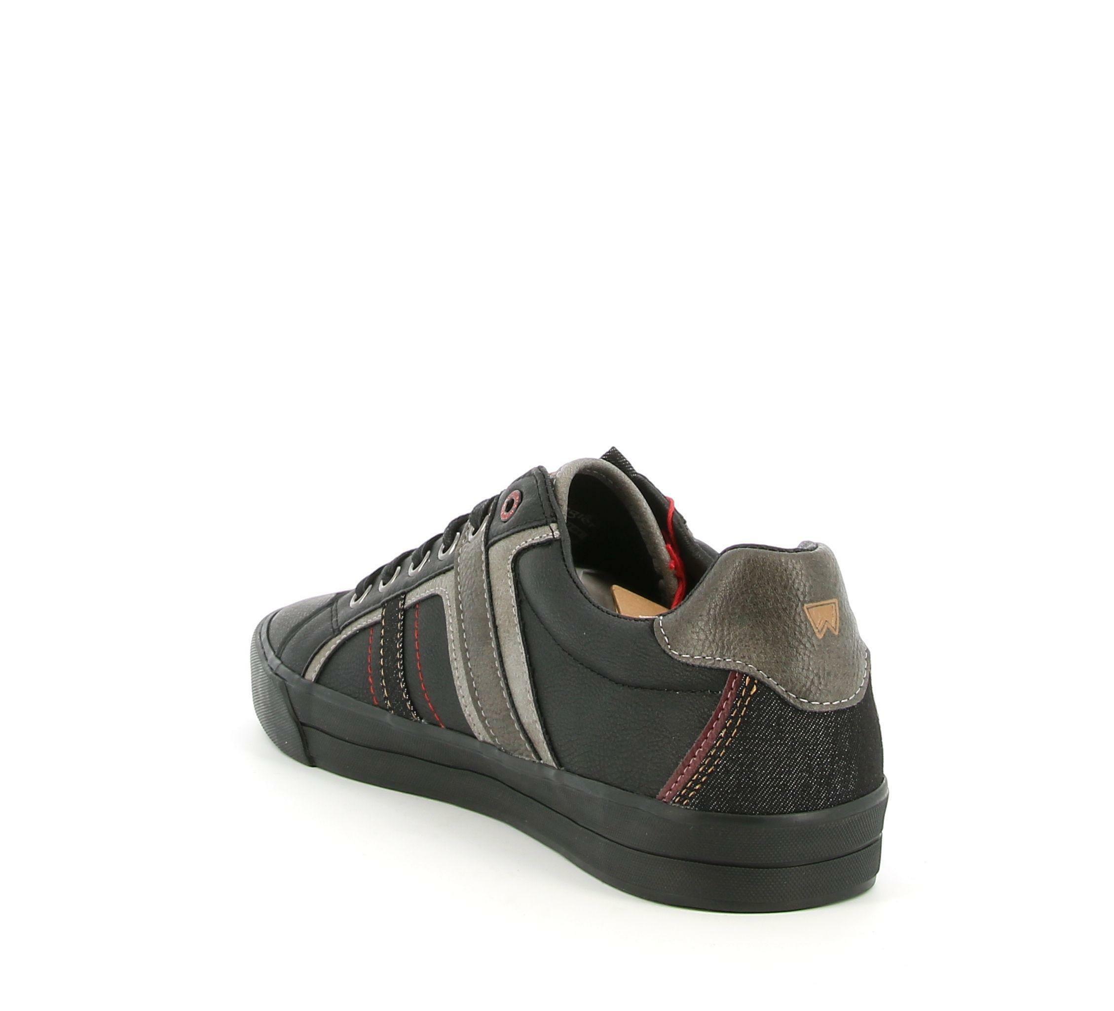 wrangler wrangler sneakers pacific derby wm02131a bassa da uomo nero