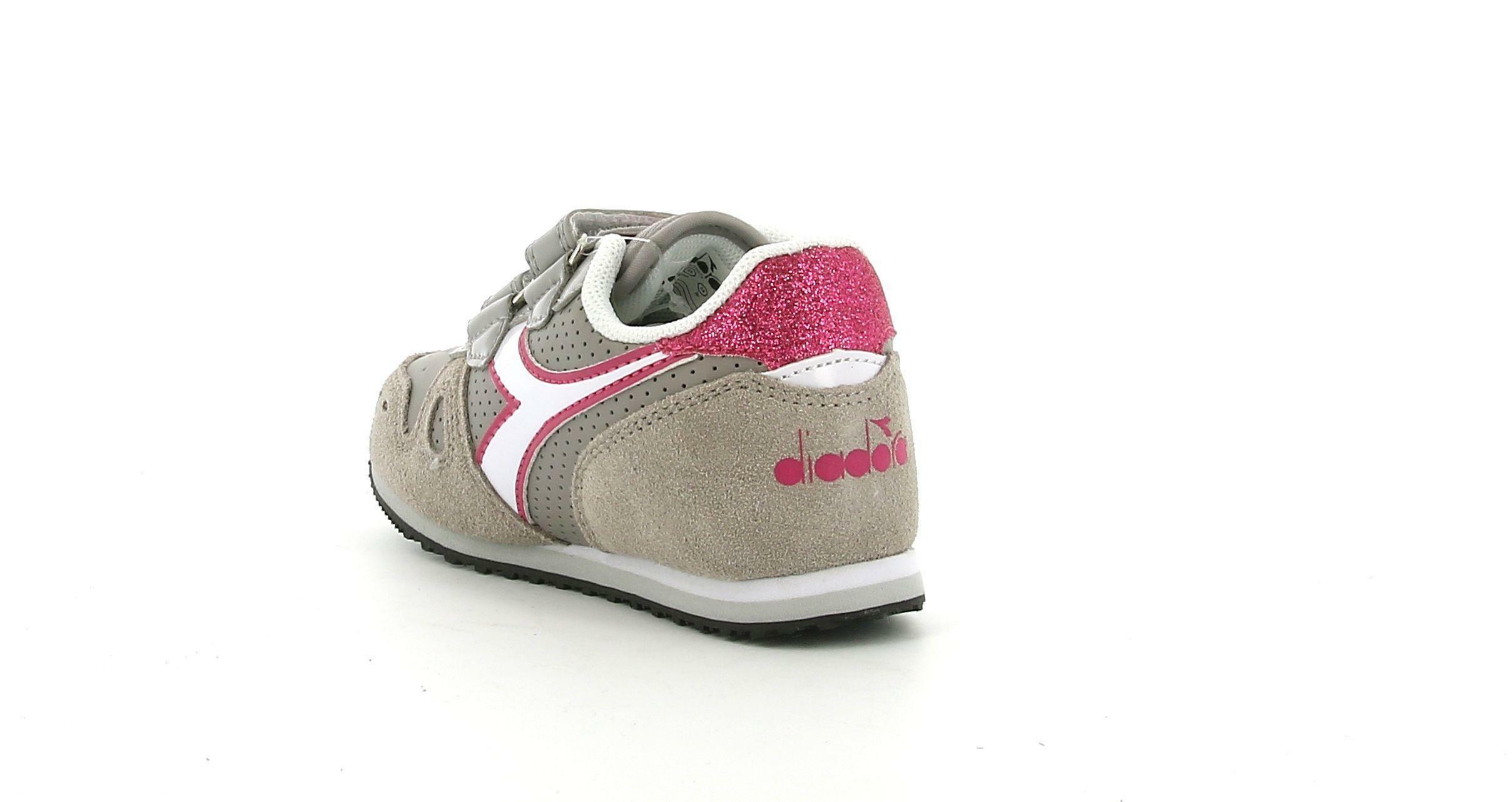 diadora diadora simple run up td 176607 grigio pulviscolo scarpe da ginnastica bambina