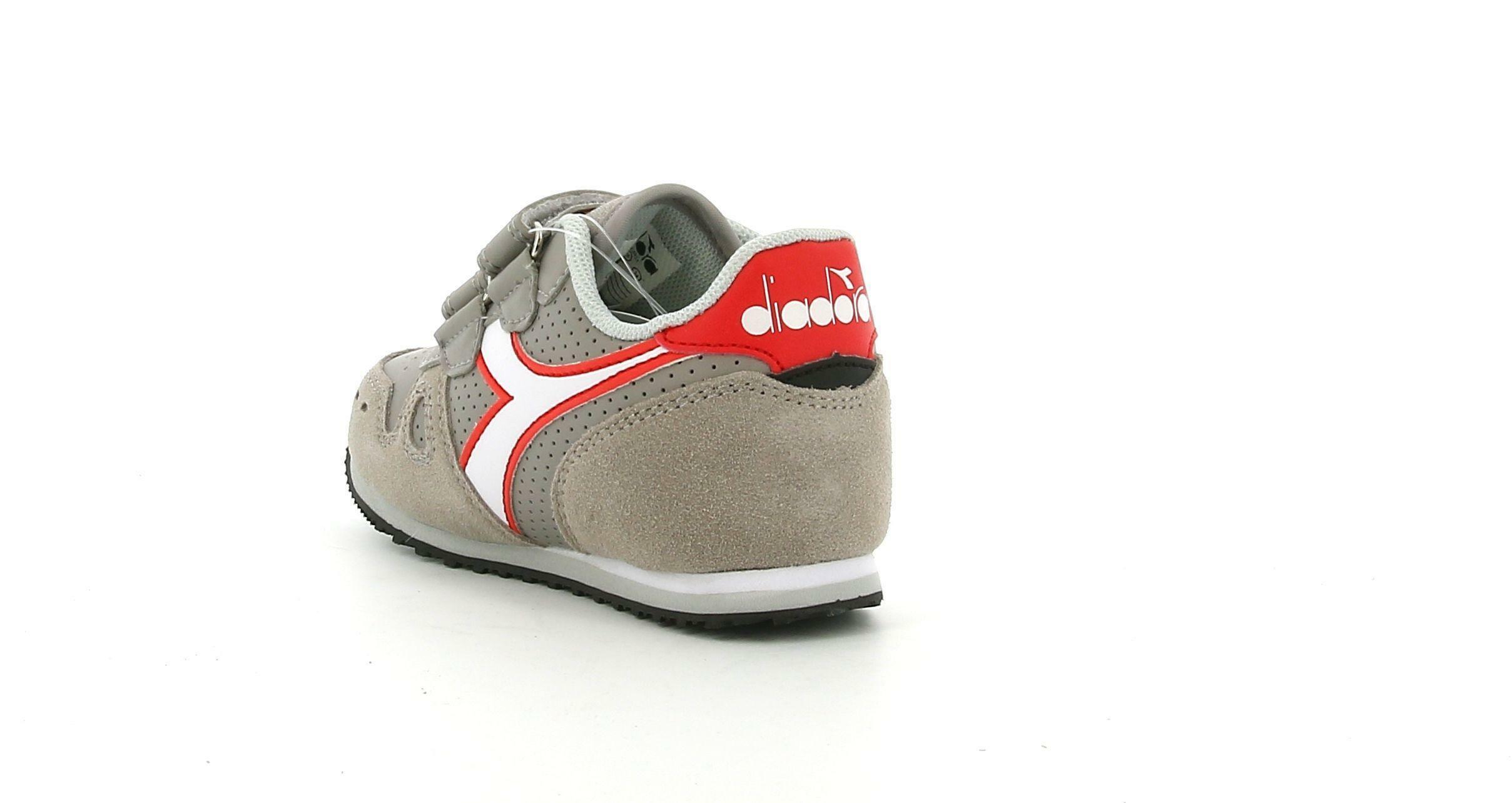 diadora diadora simple run up td 175082 pulviscolo/bianco sneakers bambino