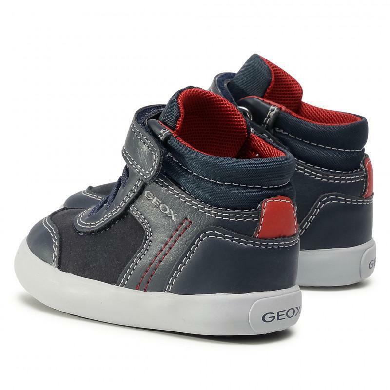 geox geox b041nb 054au c0735 navy/red sneakers bimbo