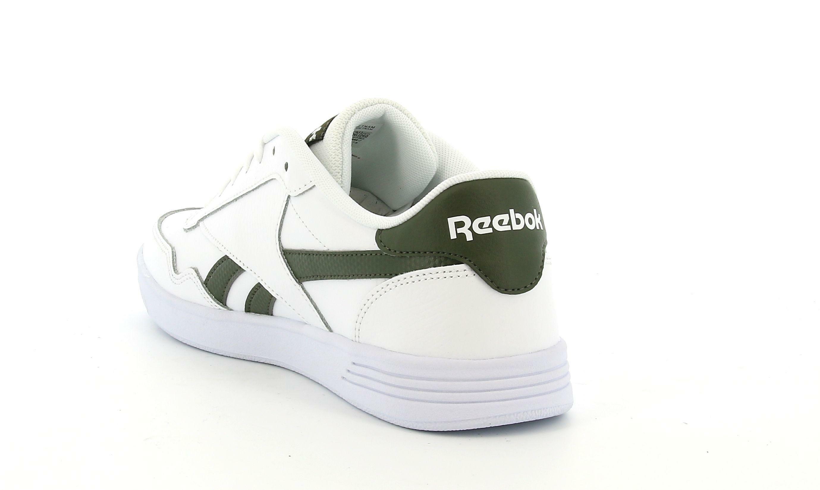 reebok reebok fw0865 royal techqu white/popgrn/wh tennis uomo