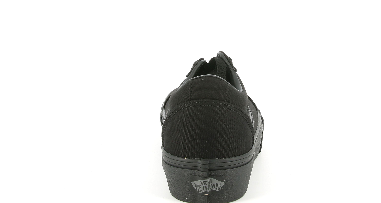vans vans vn0a3tlc1861 ward platform canvas sneakers platform da donna nera