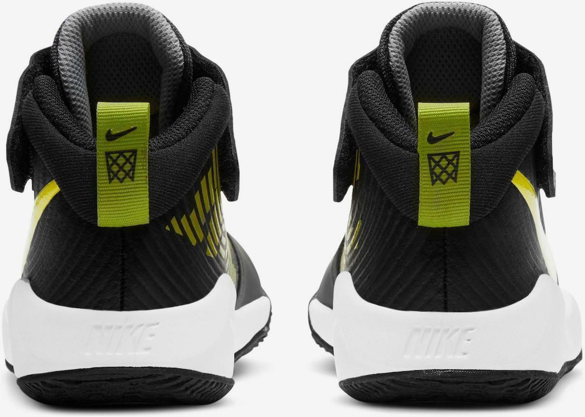 nike nike team hustle d 9 (ps) aq4225 013 scarpa sportiva bambino nero