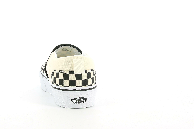 vans vans my asher yt checkerboard slip on  sneaker junior vn0a4uvt5gx1 unisex nero