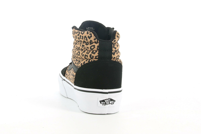 vans vans ward hi platform (cheetah) vn0a4buc36i1 sneaker alta donna nera