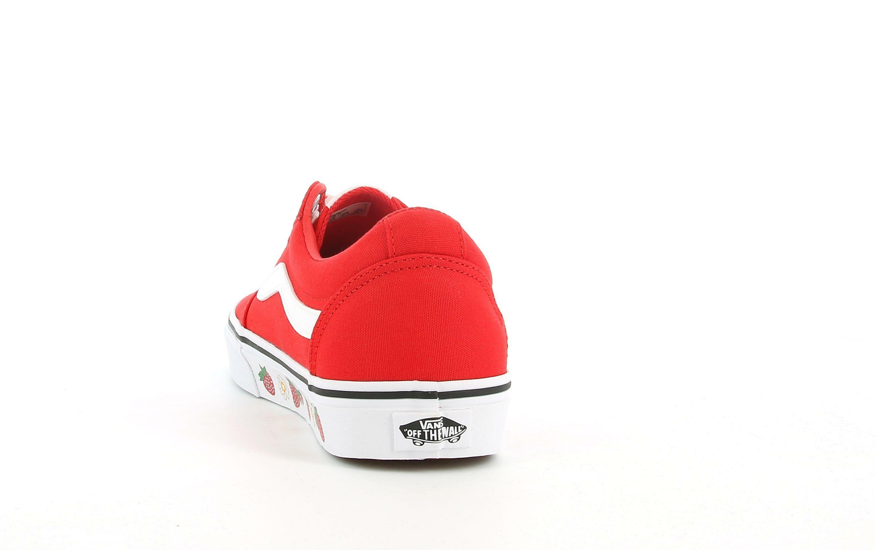 vans vans ward  strwbrysdwll  vn0a3iun57q1 sneaker donna rossa
