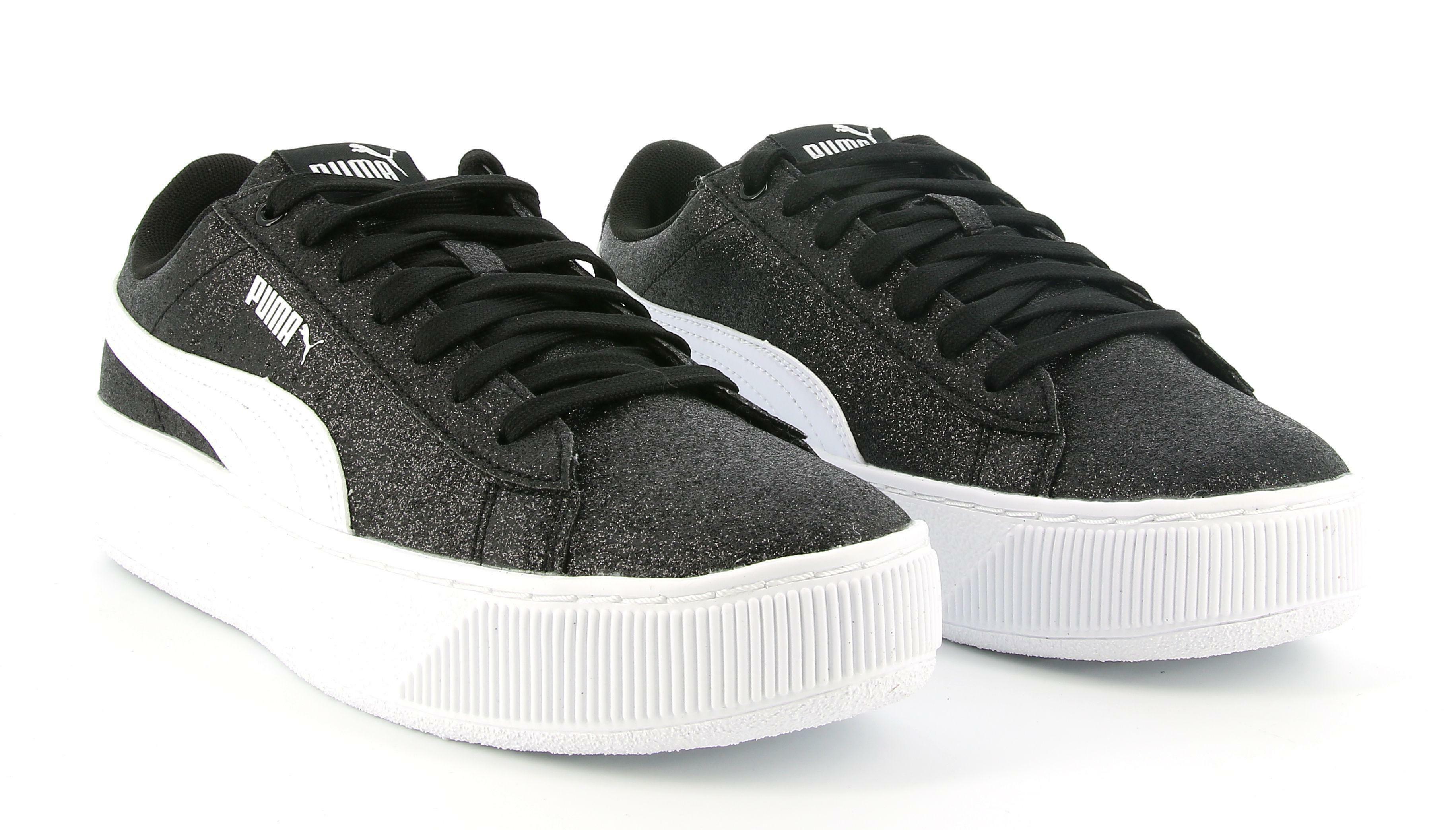 puma puma vikky platform glitz jr 366856 013 sneaker ragazza nero
