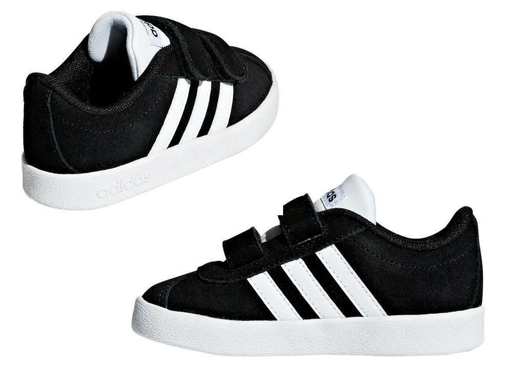 adidas vl court 2.0 cmf i bambino strappo sportivo db1833 nero
