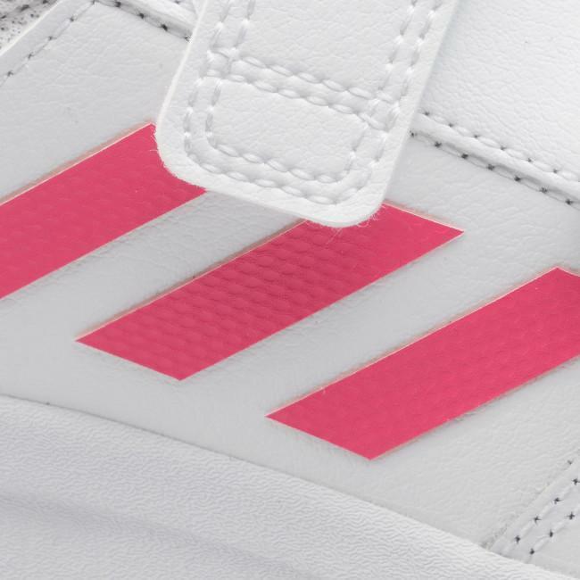 adidas tensaur c bambina strappo sportivo ef1095 bianco