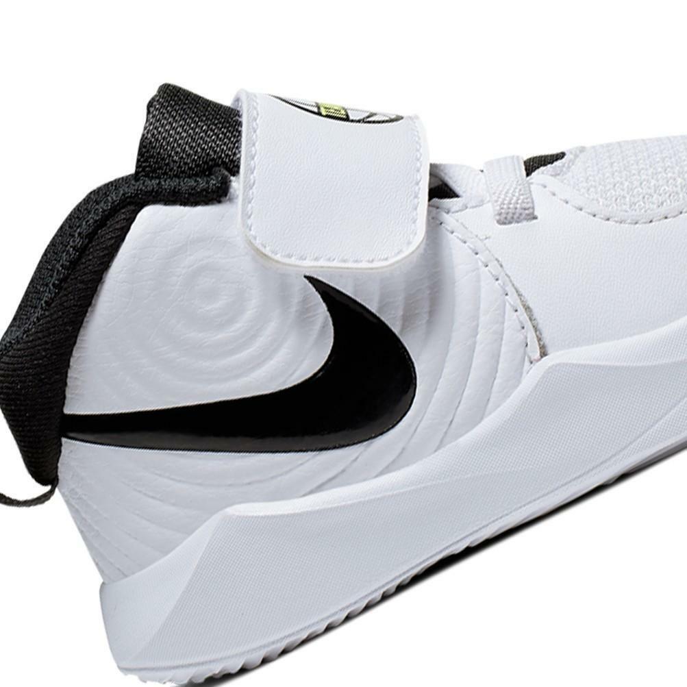 Dettagli su Scarpe Nike Nike Team Hustle D 9 (Td) Taglia 27 AQ4226 100 Bianco
