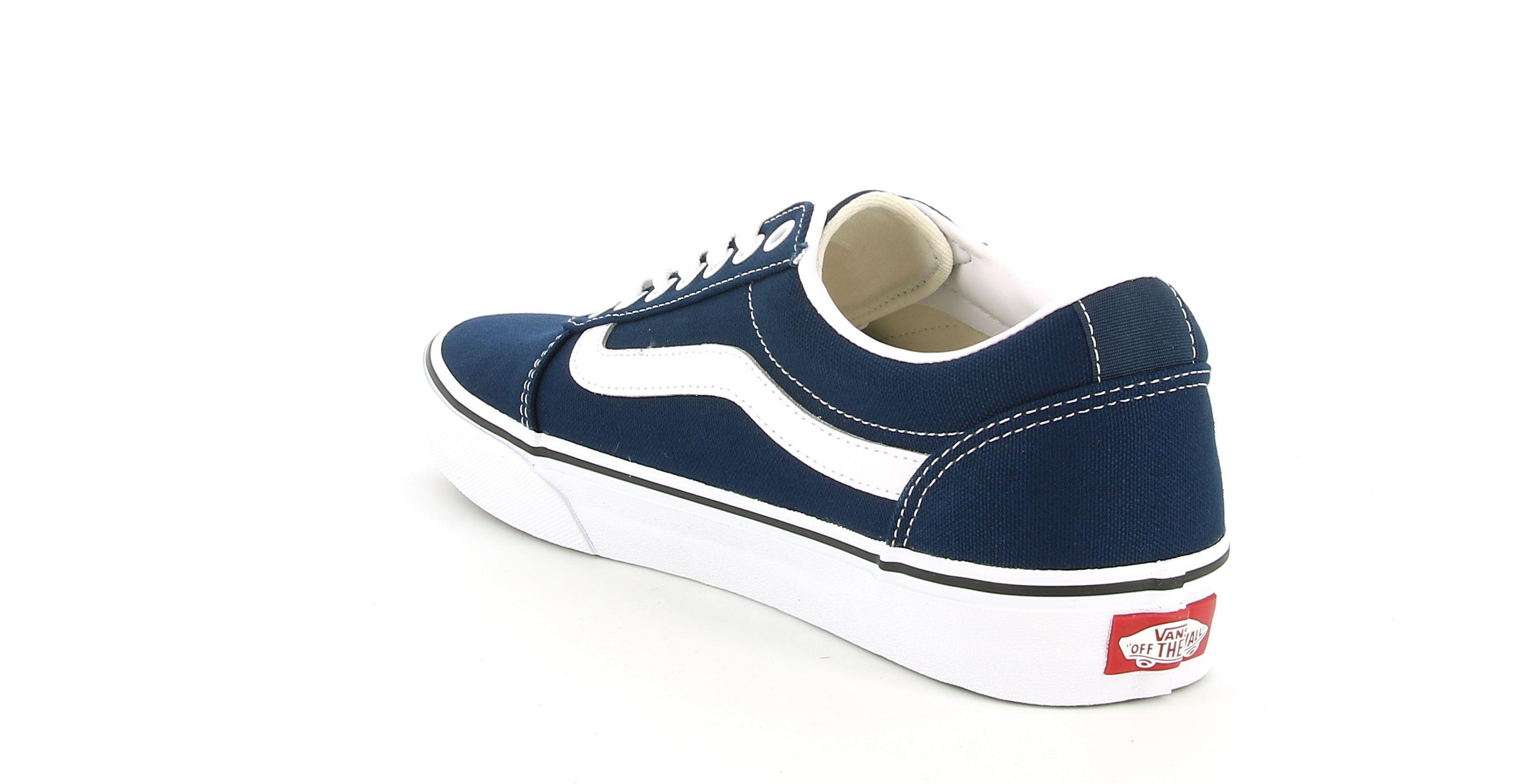 vans vans vn0a38dmjy31 ward sneakers bassa da uomo blu bianca
