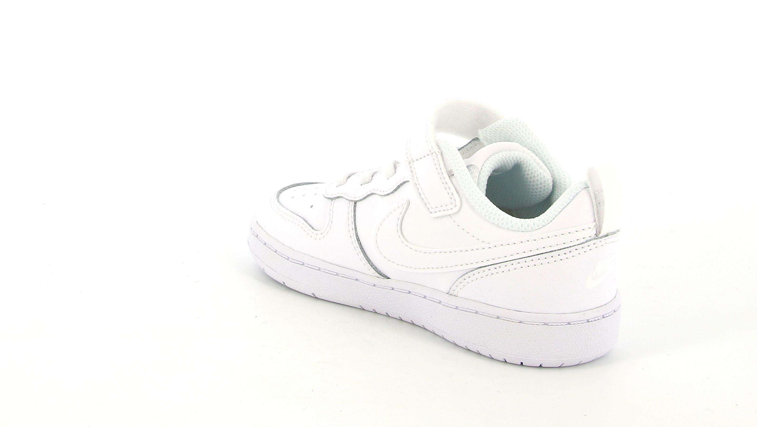 nike nike court borough low 2 (td) sneaker babinom bq5453 001 bianco